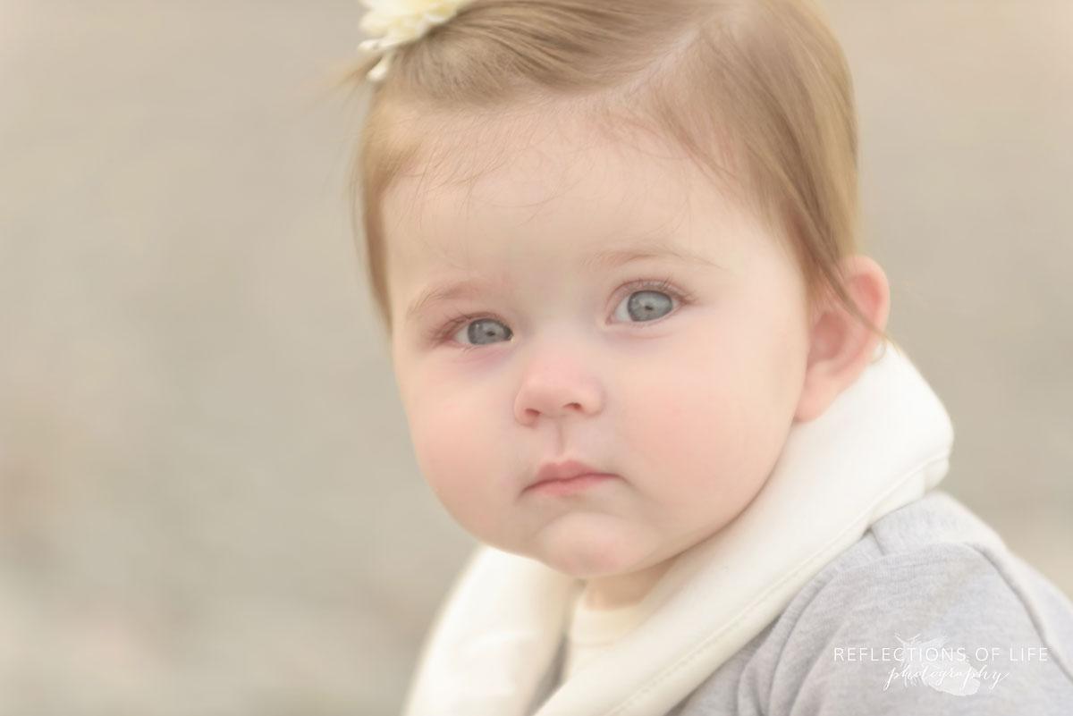 Calm baby photography in Jordan, Ontario, Canada