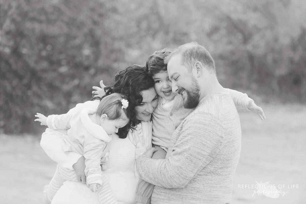 Connected family portraits Toronto Ontario
