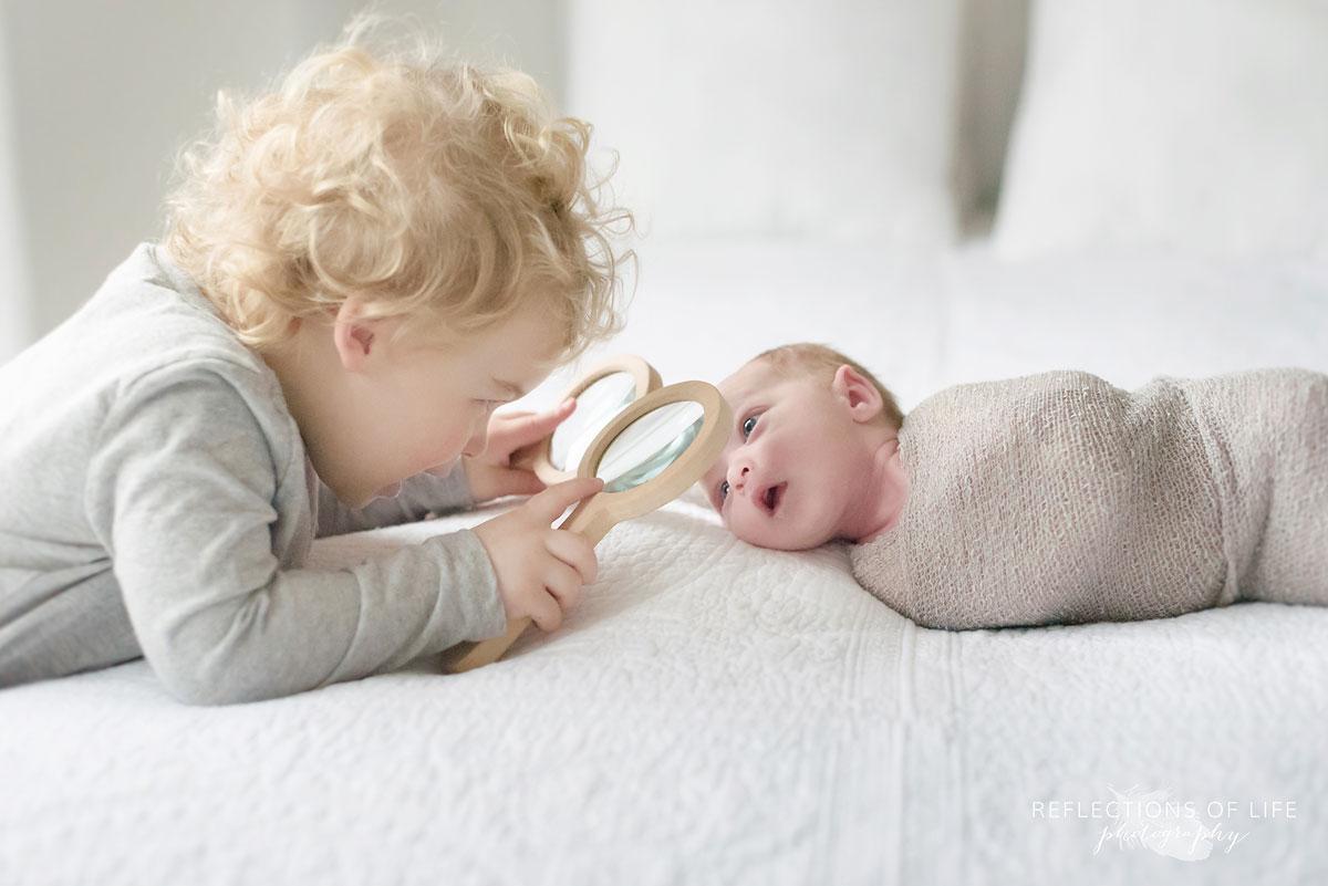 003 Sweet Sibling and Newborn Photography Niagara Region of Ontario