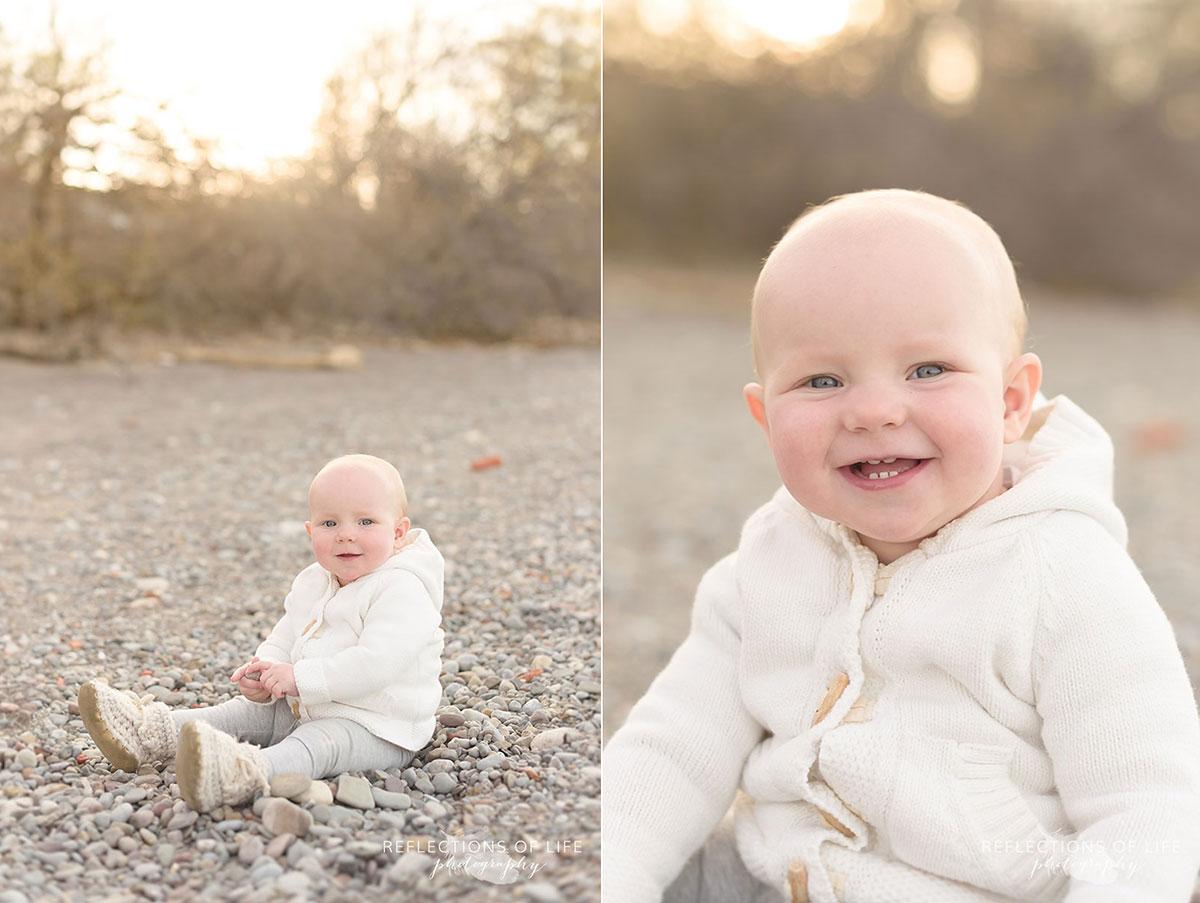 024 Lifestyle Baby Photography on the Beach Niagara Region Ontario