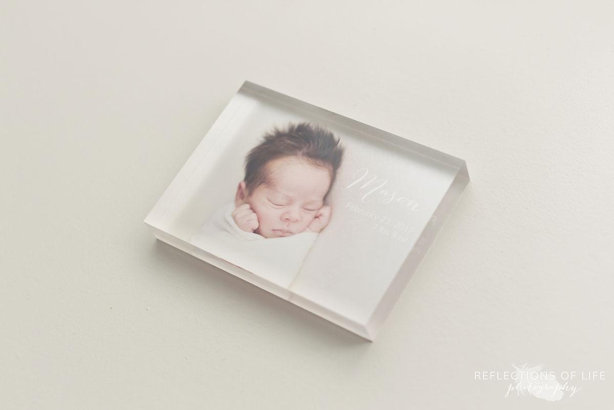 003 Newborn Photo Acrylic Block by Karen Byker of Reflections of Life Photogarphy