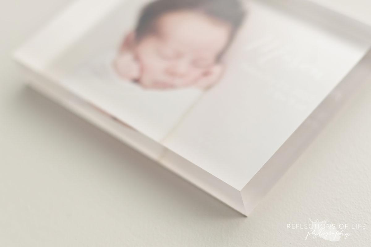 004 Newborn Photo Acrylic Block by Karen Byker of Reflections of Life Photogarphy