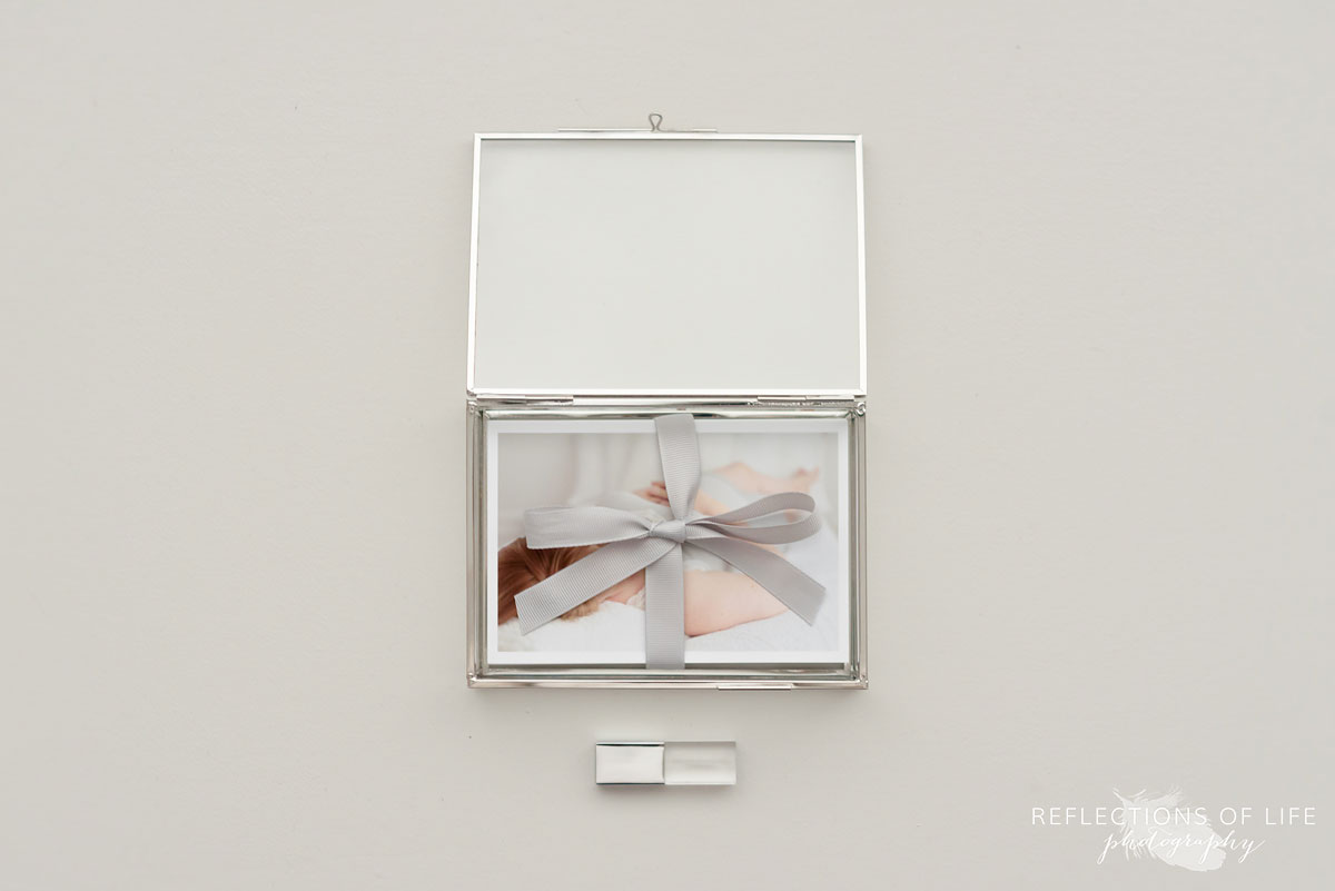 Beautiful Glass Proof Box for Maternity Portraits
