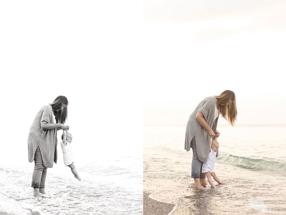 017 Mother daughter candid portraits on the beach Niagara Region Ontario