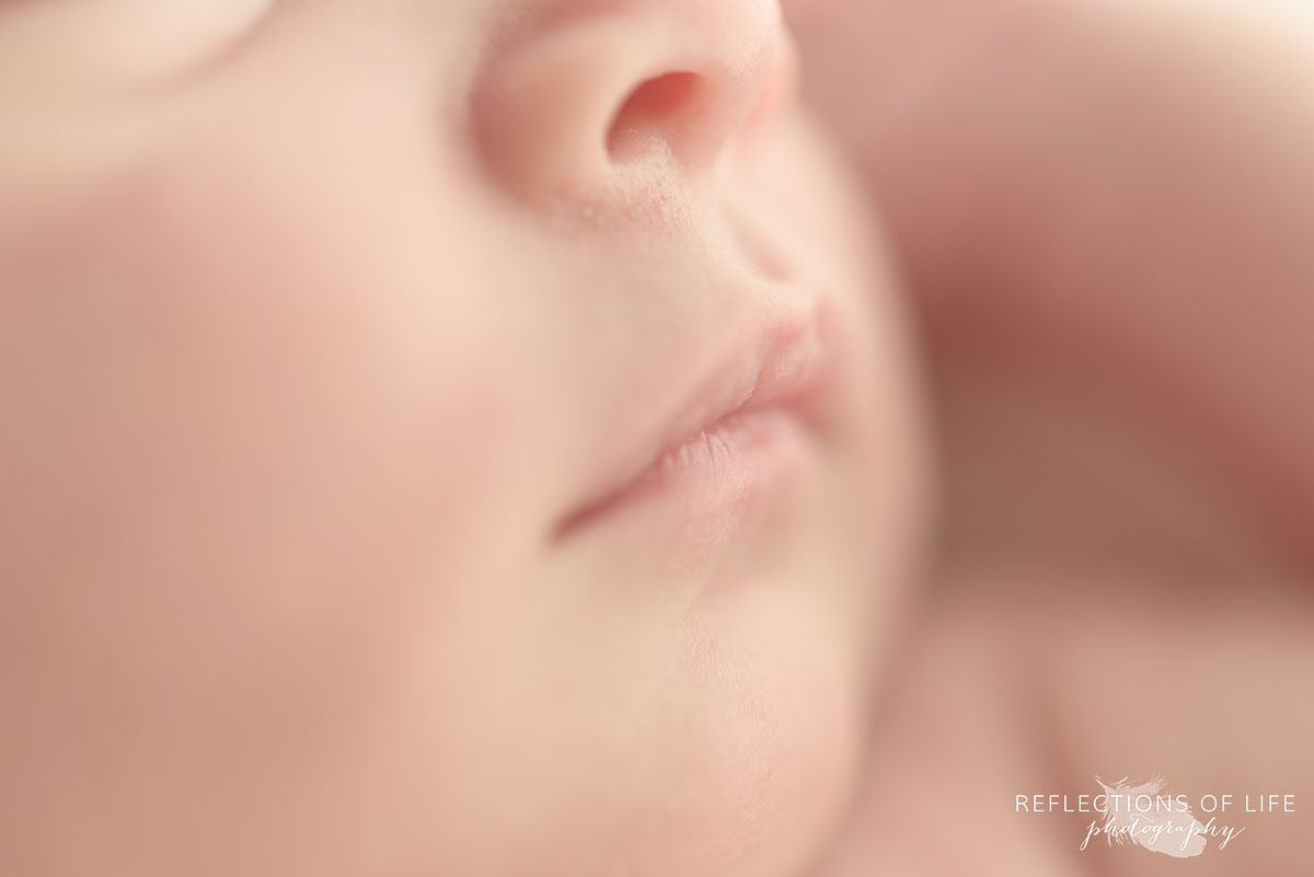 newborn baby boy lips photographed in natural light Grimsby photography studio 011