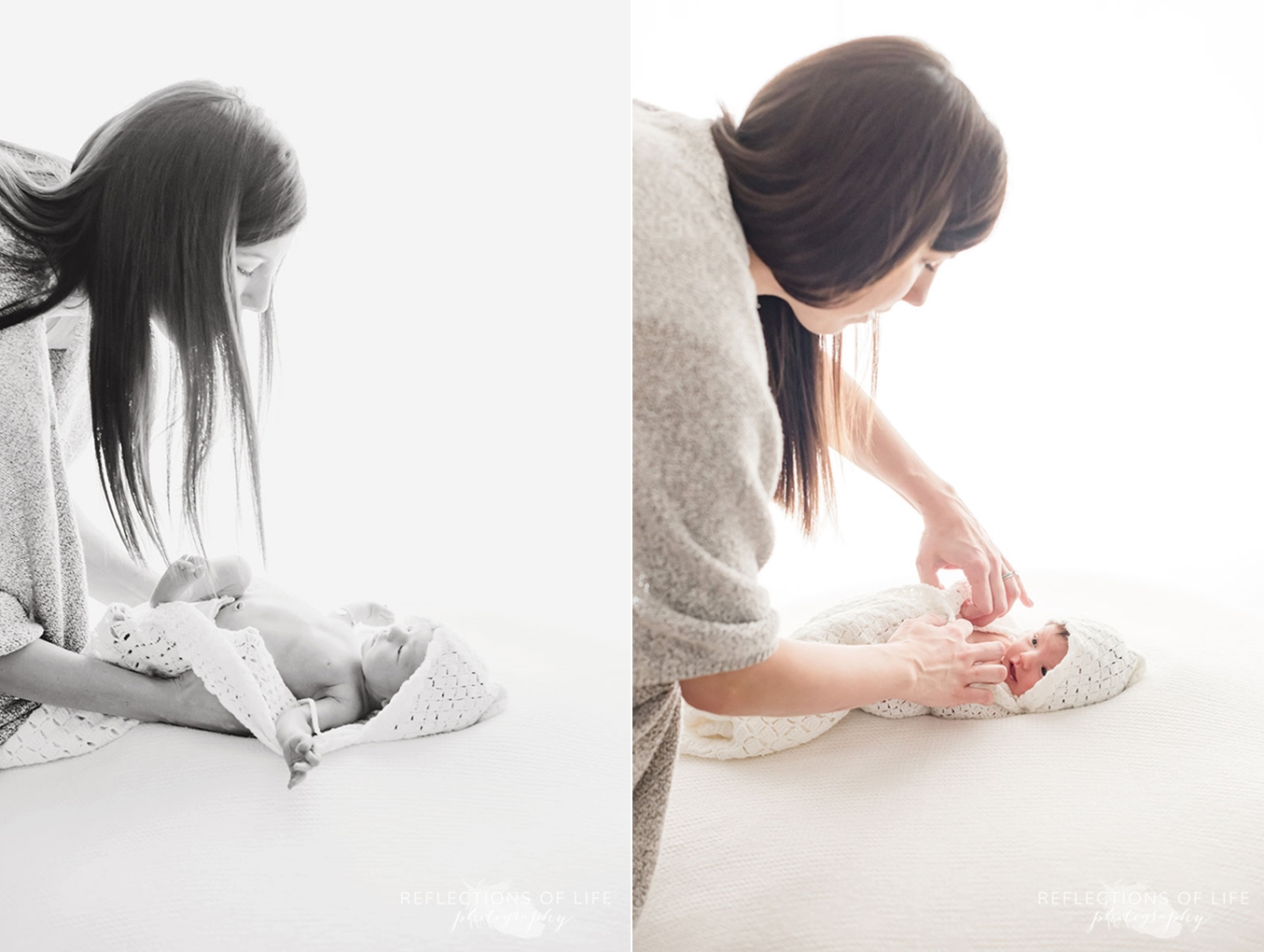 behind the scenes lifestyle newborn session