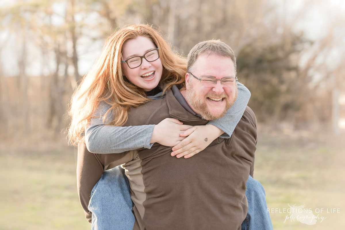 Fun photos with dad and daughter