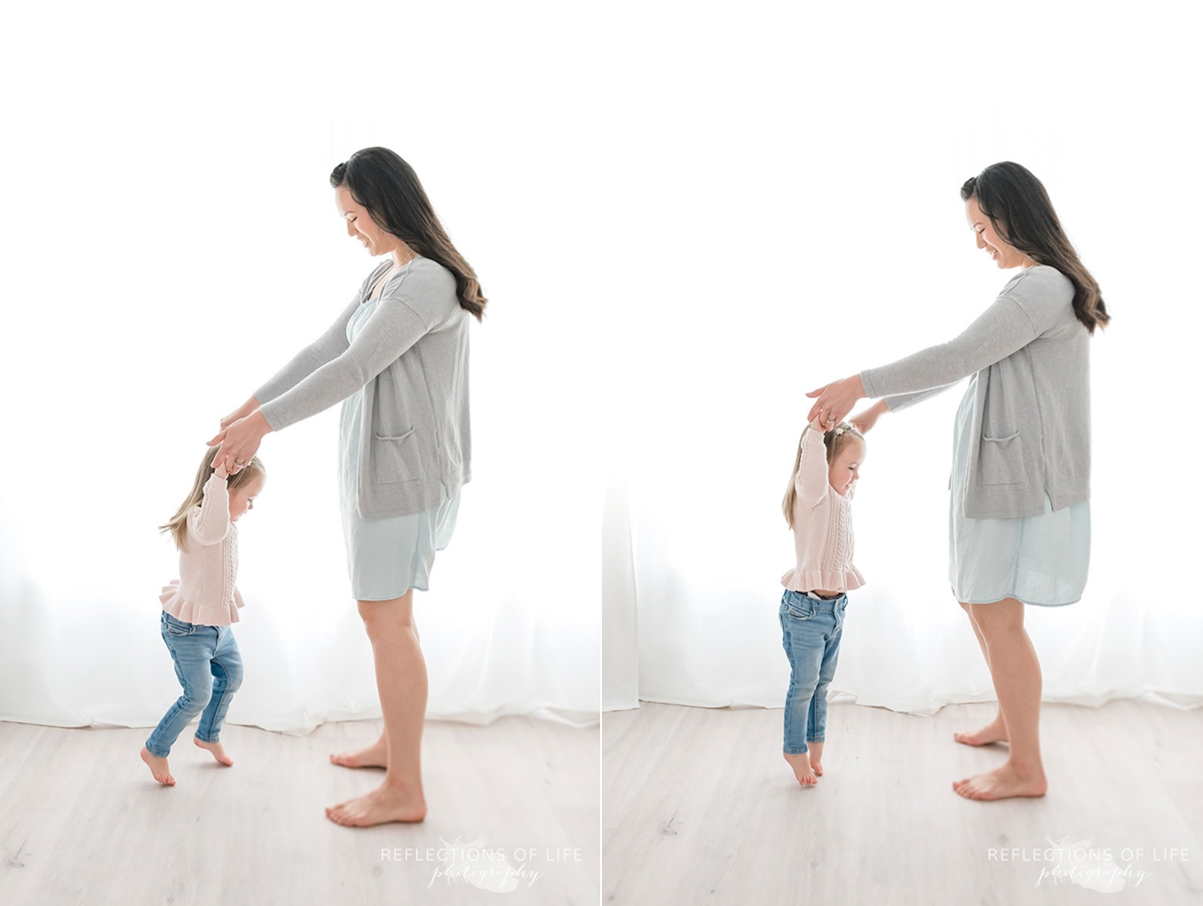 Mother and daughter dancing in Grimsby Ontario