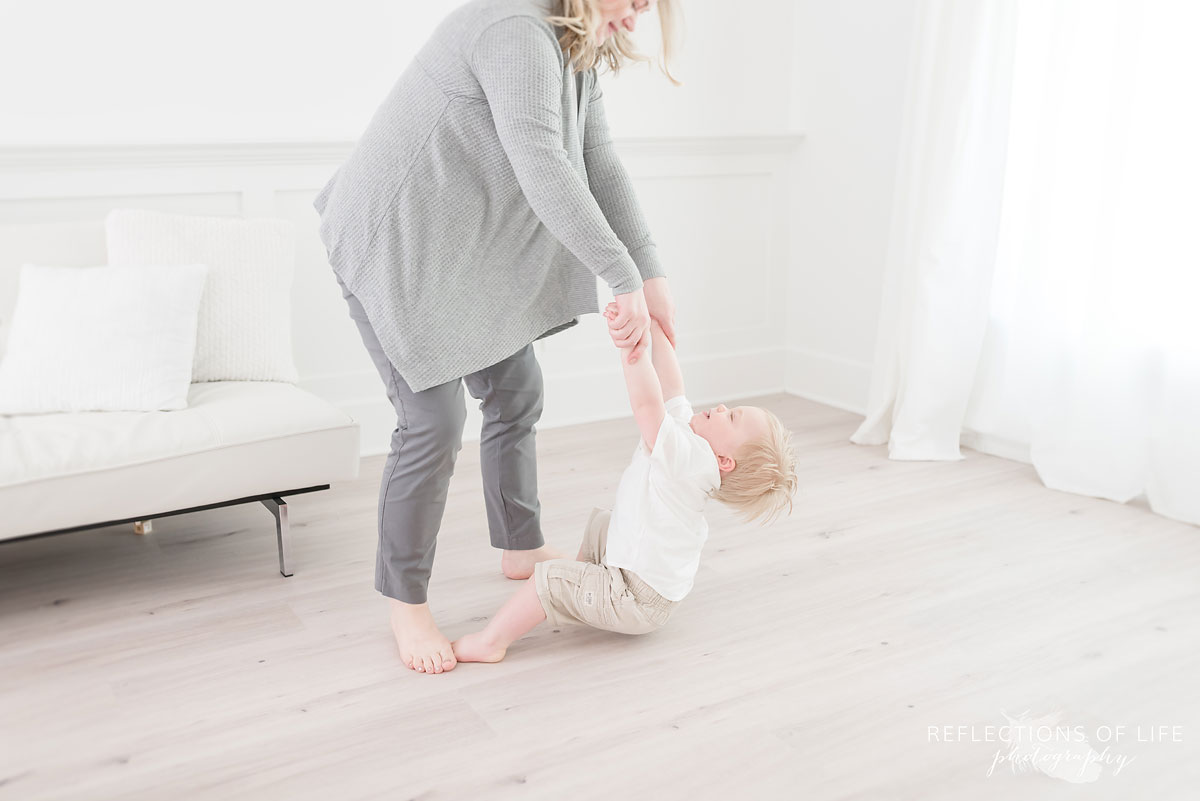 Grimsby mother and son playing