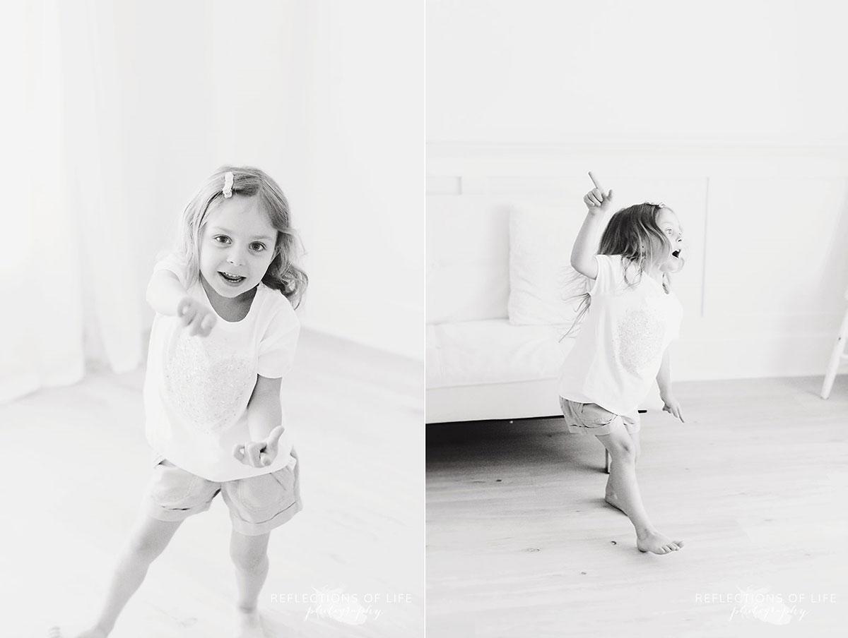 niagara family photography young girl dancing in studio