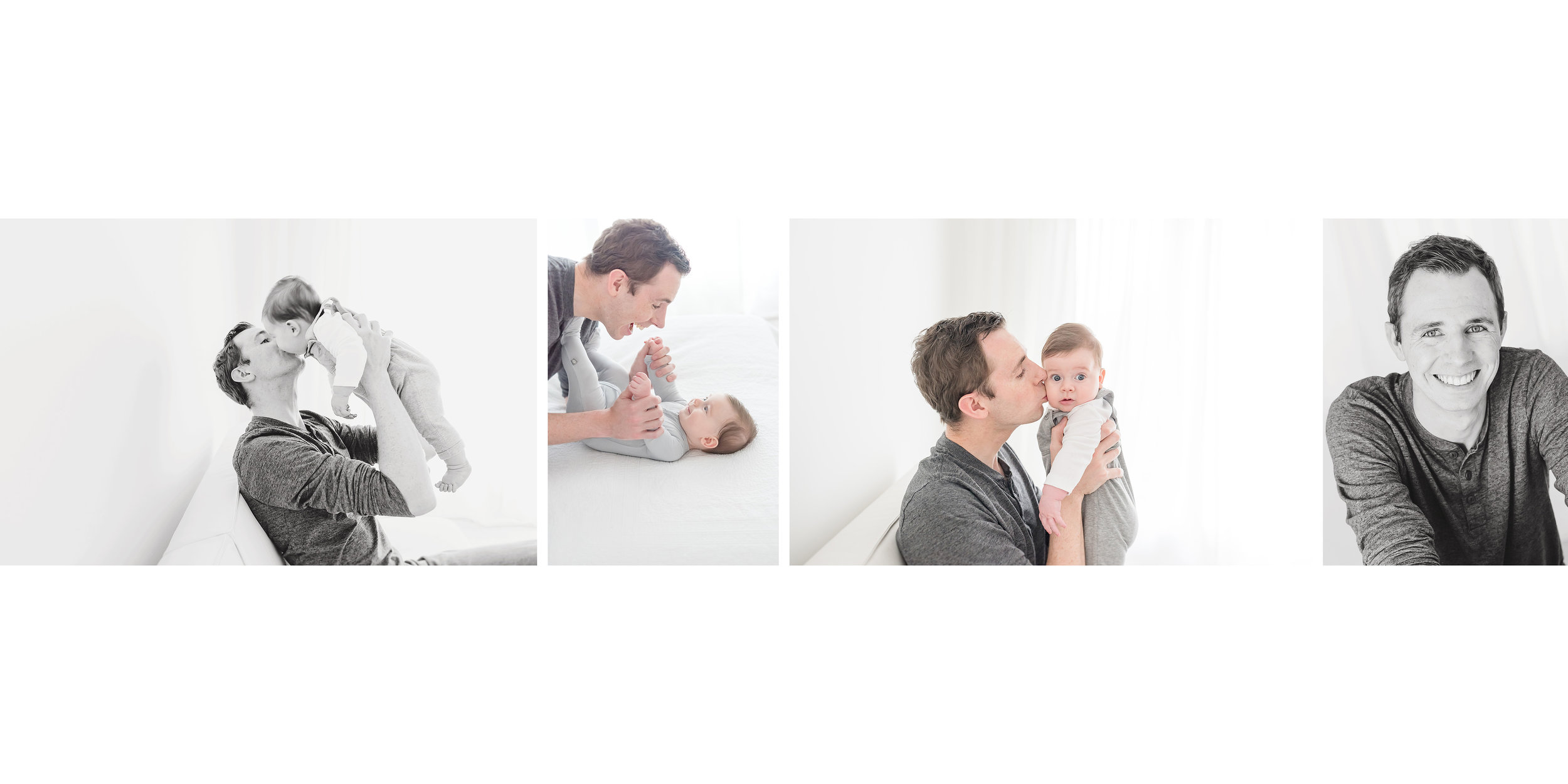 father and baby album page