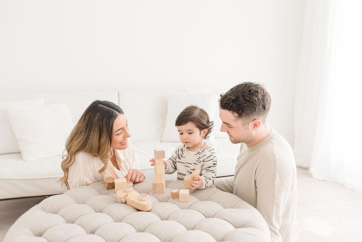Family of three in grimsby studio