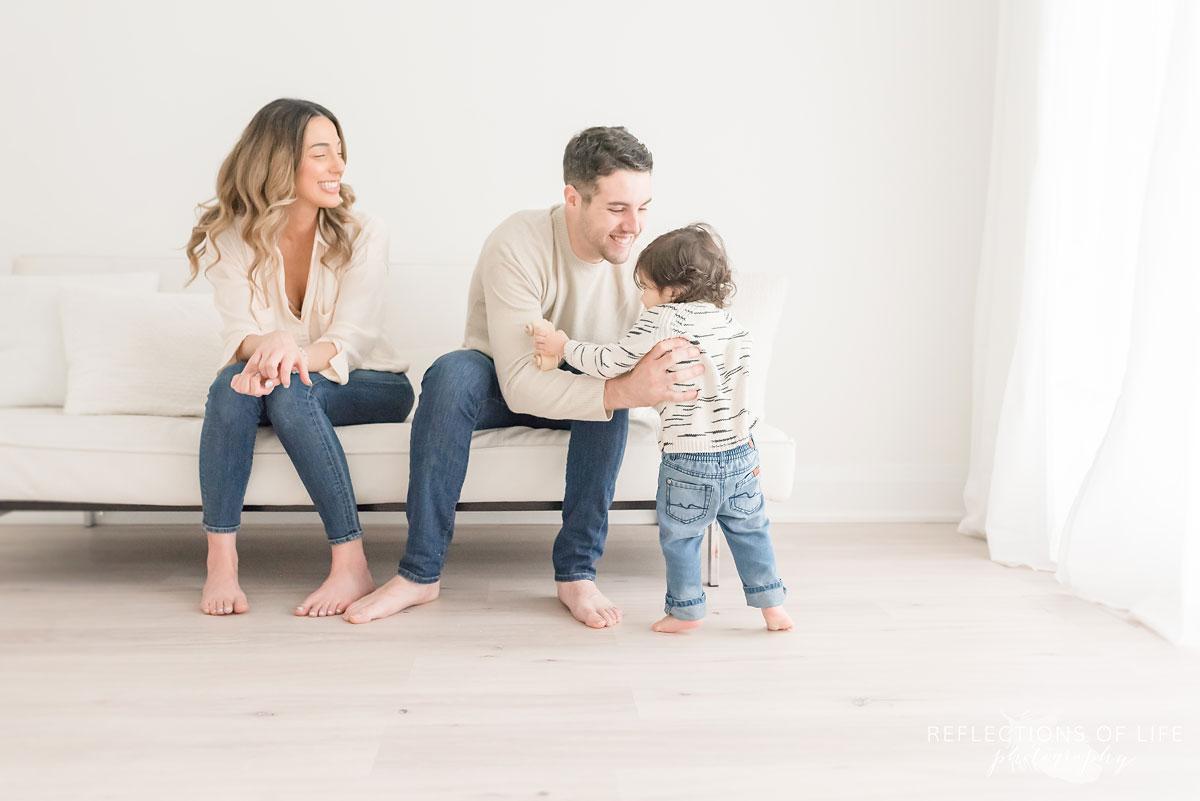 family in white studio niagara