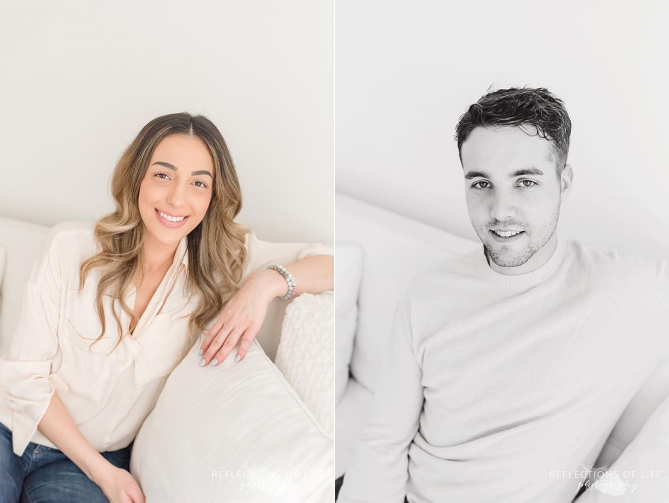 portraits of husband and wife