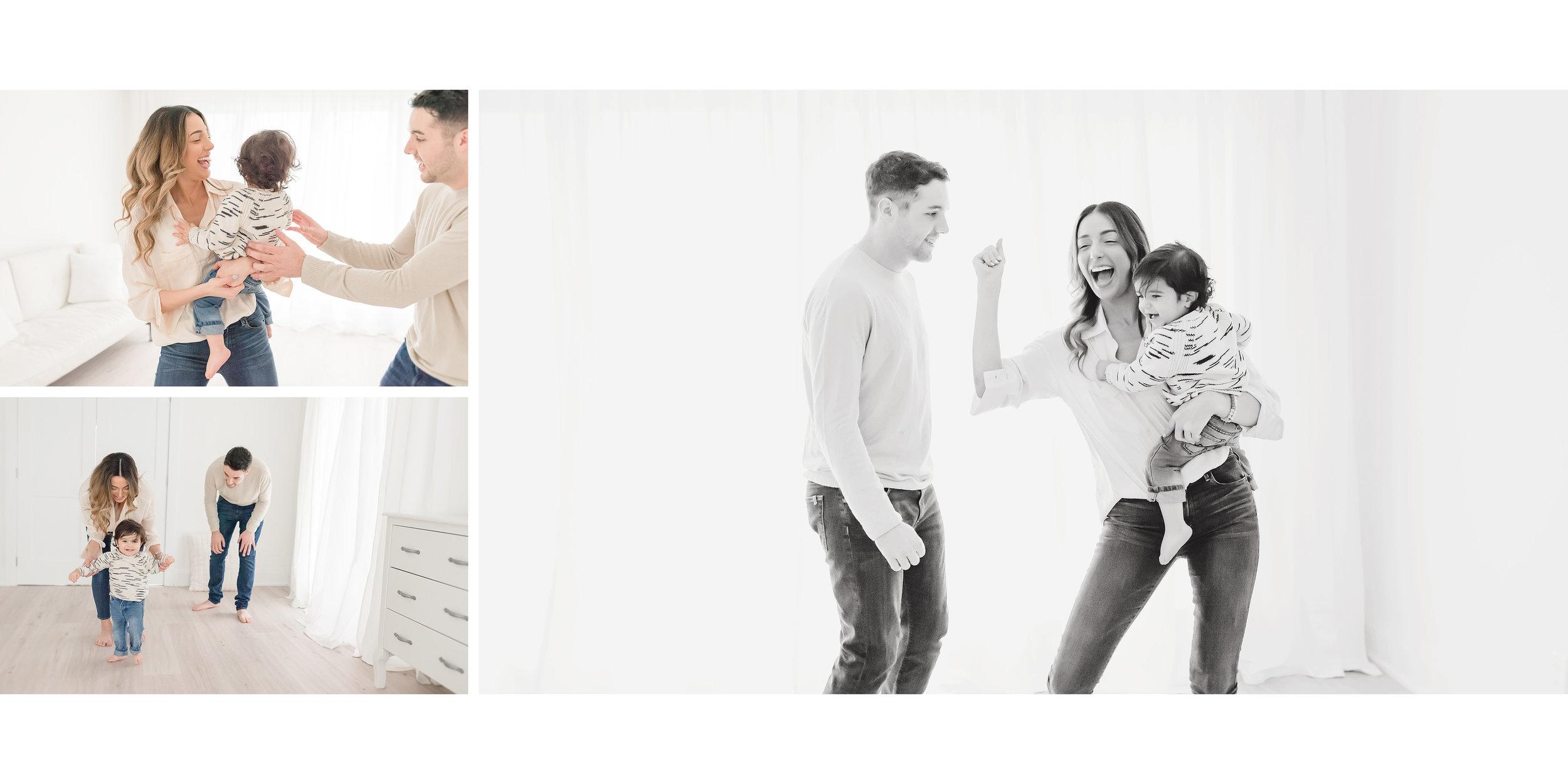 family dancing in studio