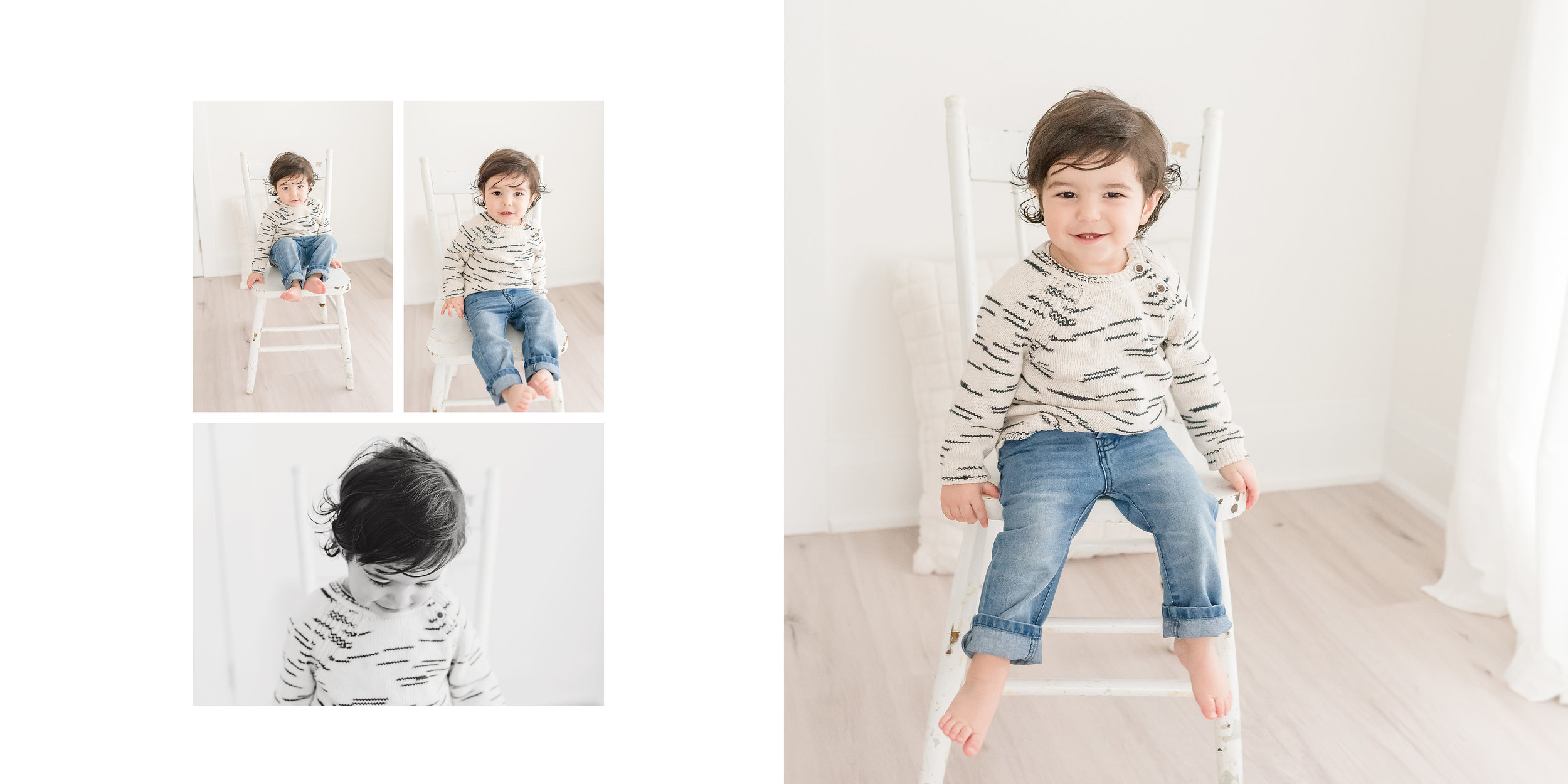 little boy on white chair niagara region
