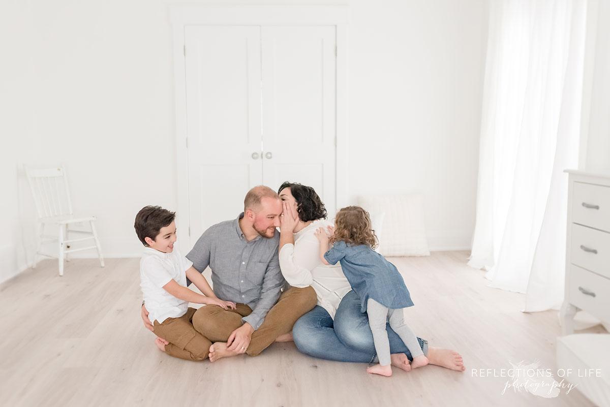 family telling secrets