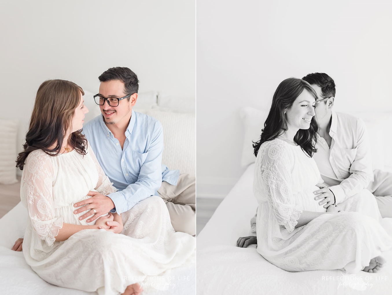 new parents laughing
