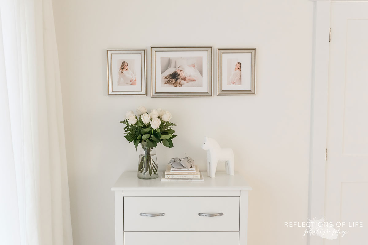 Framed maternity prints in custom frames