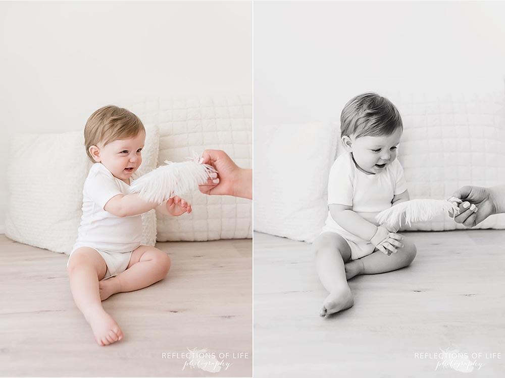 Niagara Baby photographer tickle little boy with feathers.jpg