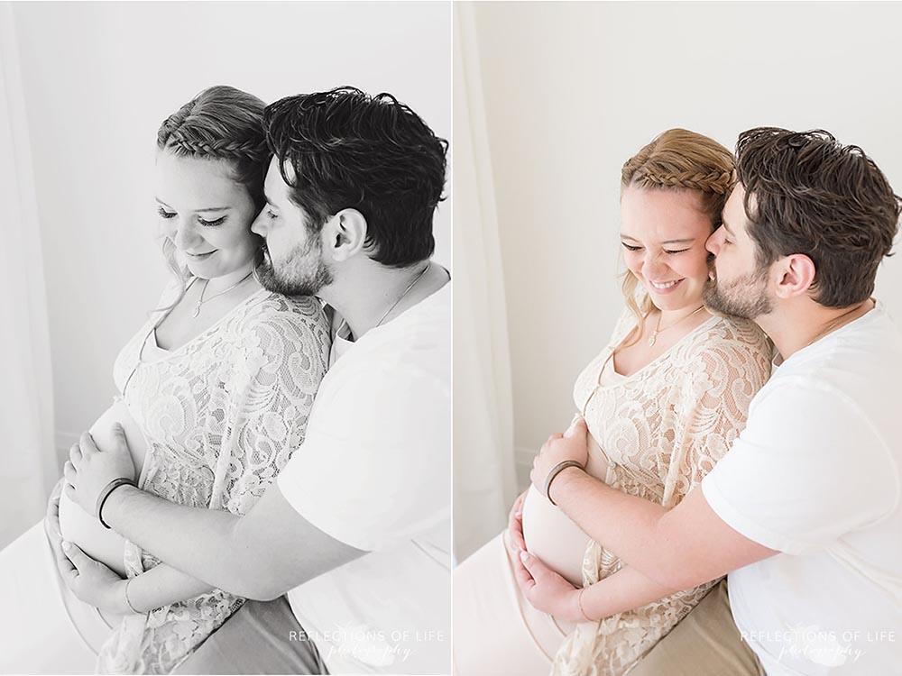 Toronto Ontario maternity photography in natural light studio