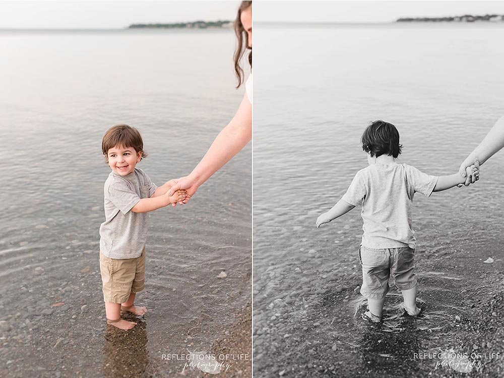 Little boy plays in the water at Casablanca Beach in Grimsby Ontario.jpg