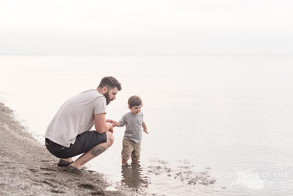 Father and son beach photography Niagara Ontario.jpg