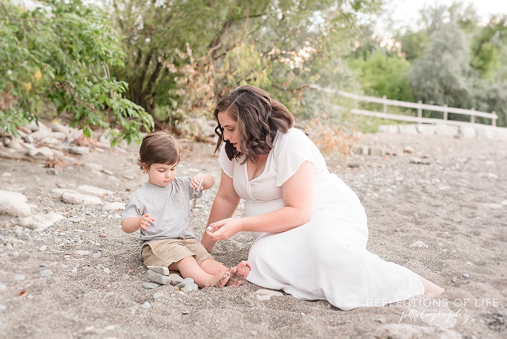 Mother and son photos at the beach in Niagara Ontario.jpg