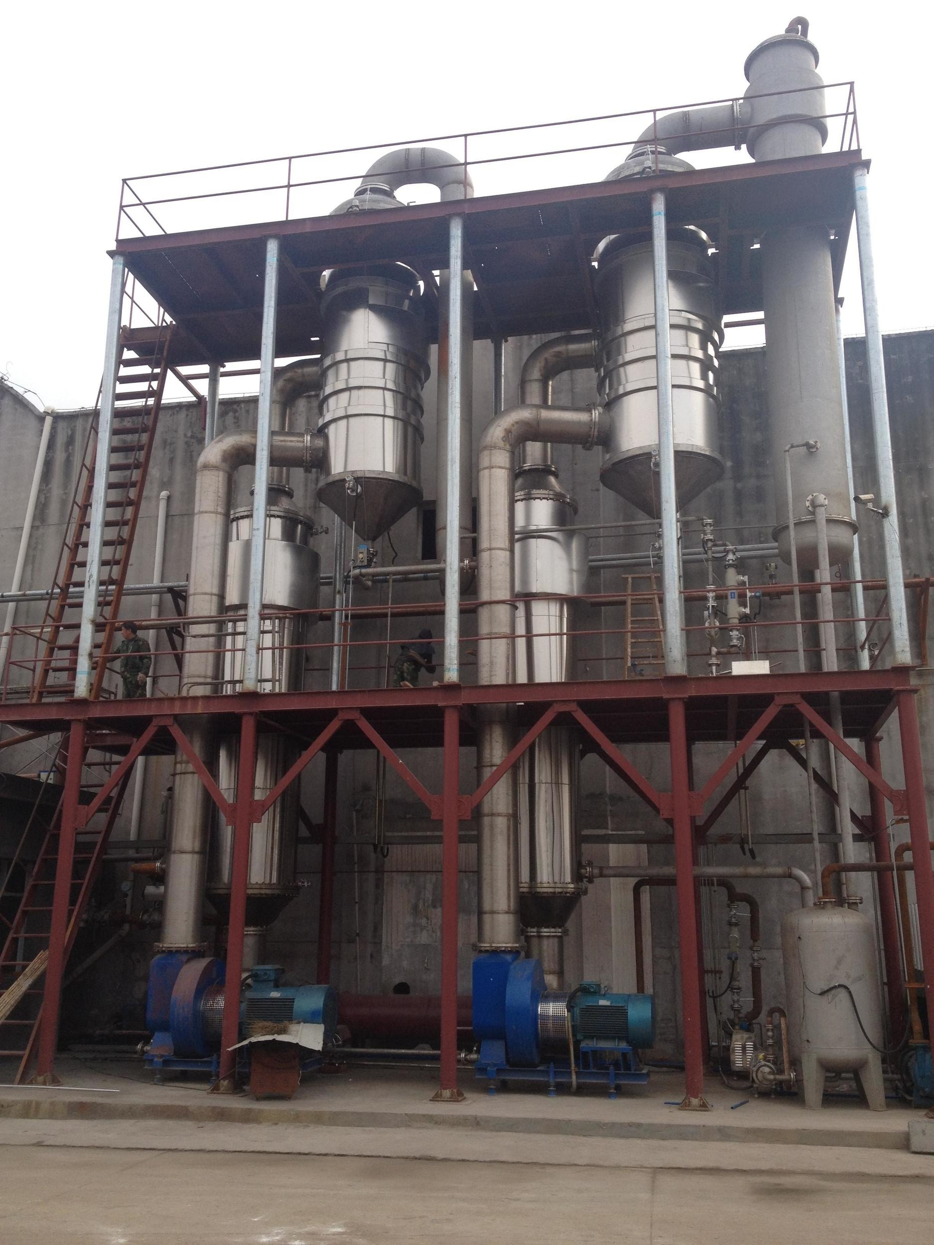 6T per hour of two effect forced circulation evaporator crystallizer.jpg