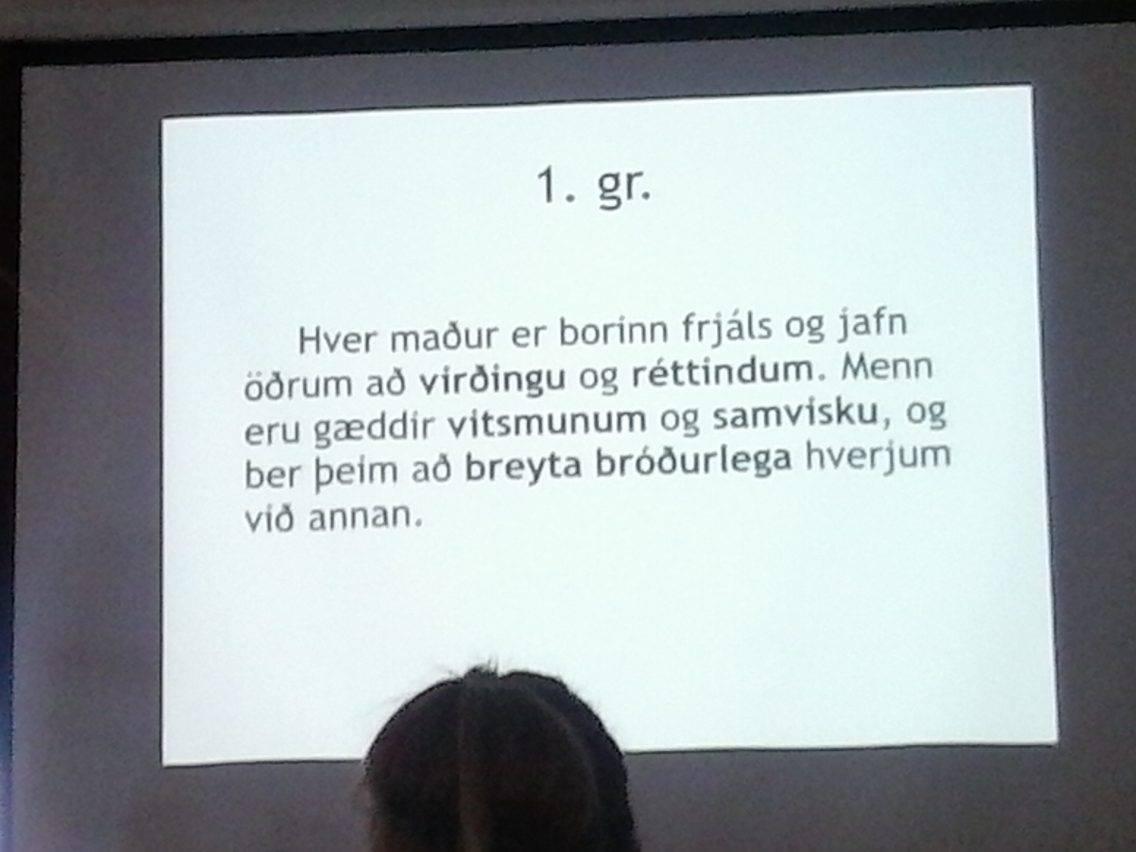 1. gr. mannréttindasáttmála sameinuðu þjóðanna.