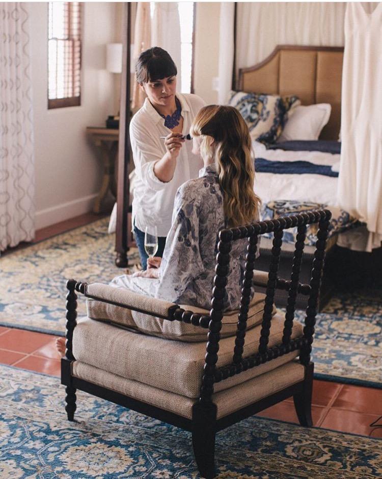 Bride make up wedding maui