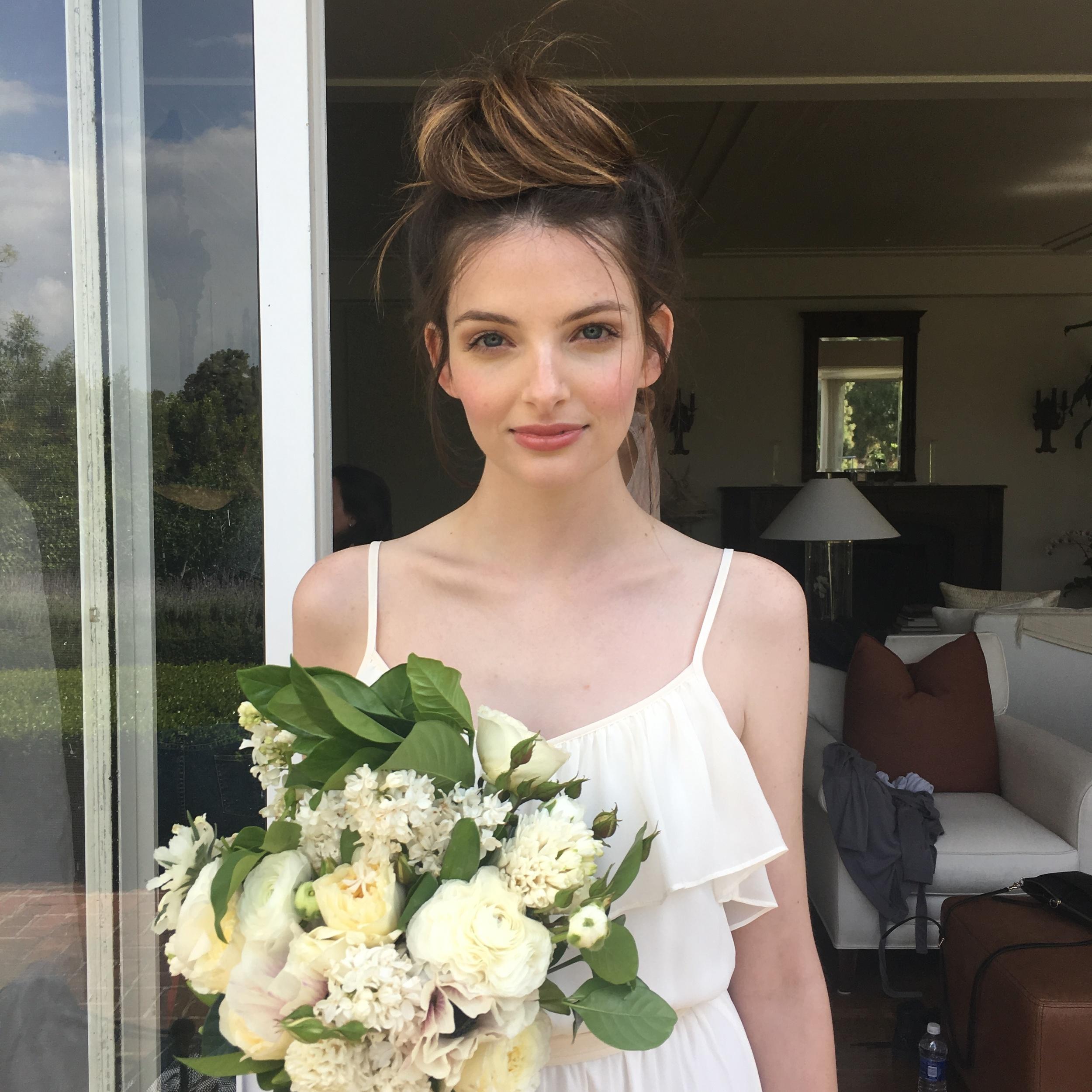 Bride hawaiian wedding. bridal Makeup, Hair