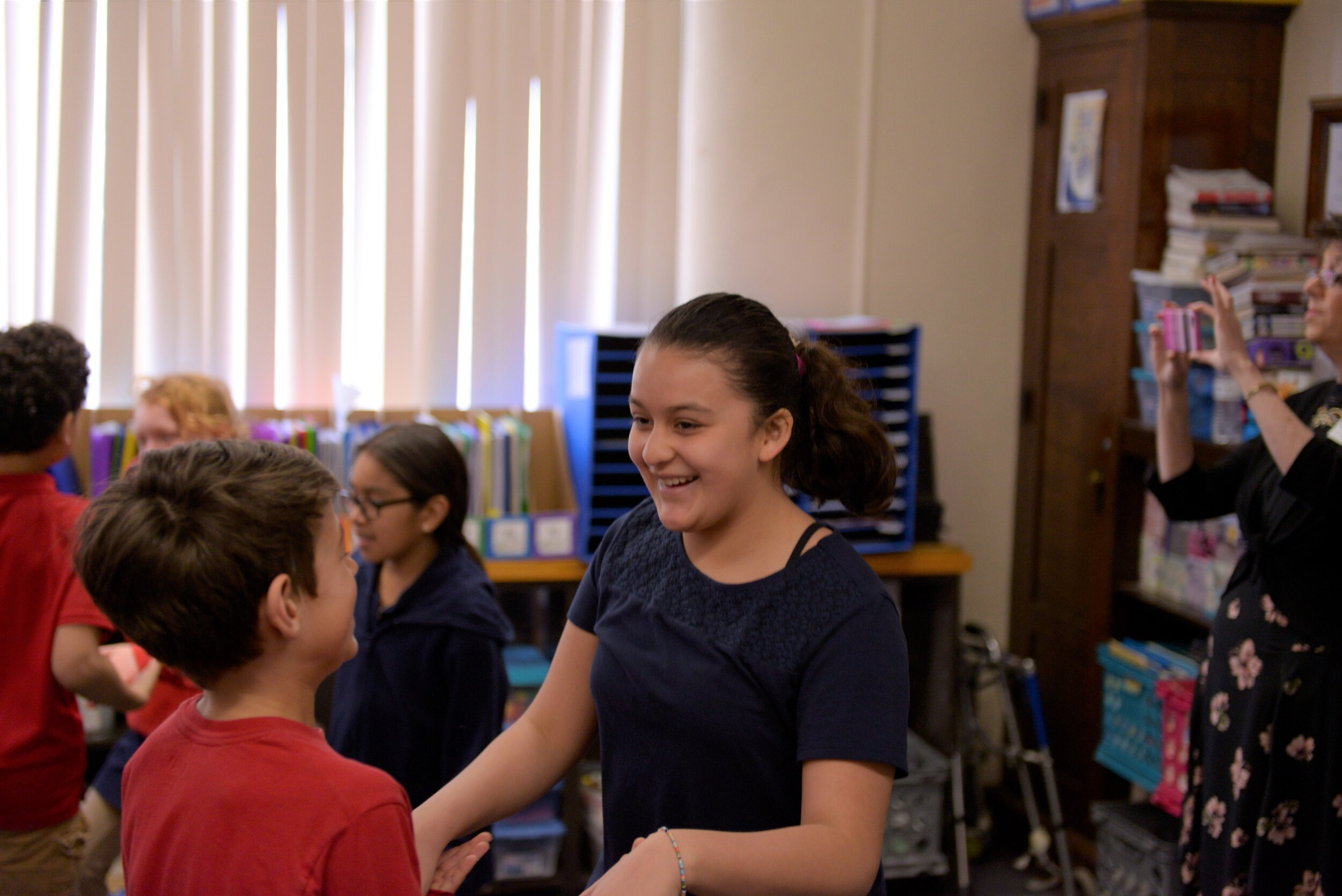 """- Lisa Anderson, a now retired fifth grade teacher at Pinewood Elementary School in Rochester, remains an advocate for Dancing Classrooms after her positive classroom experience in 2017. According to Lisa's testimony for our Rochester Area Foundation grant, """"Dancing Classrooms is a program that not only welcomes all students, but expects them to demonstrate strength of character at the highest level."""""""