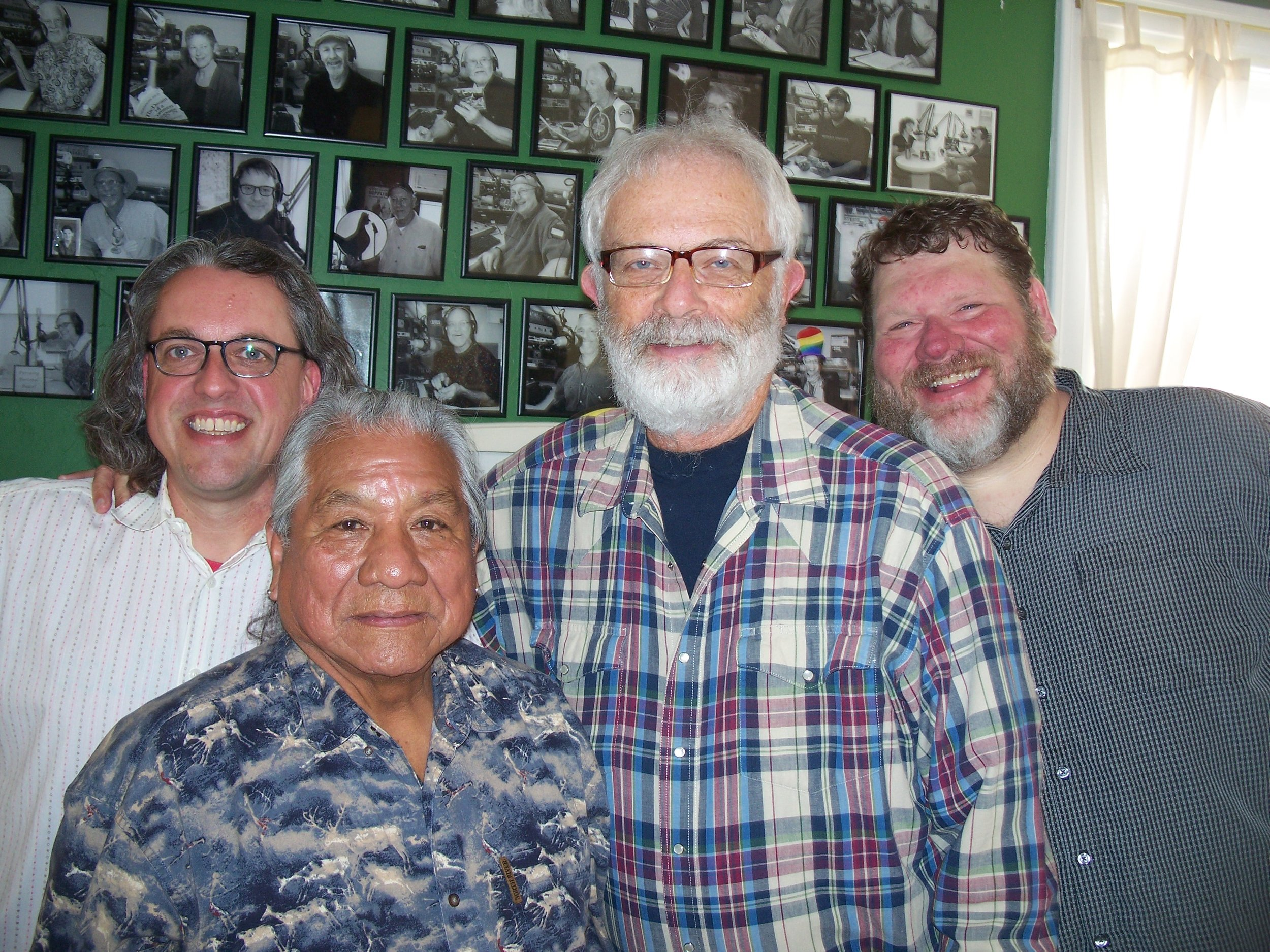 Pictured from left: Mark Monroe, Roland McCook, Wayne Iverson, and Jimmy Sellars.