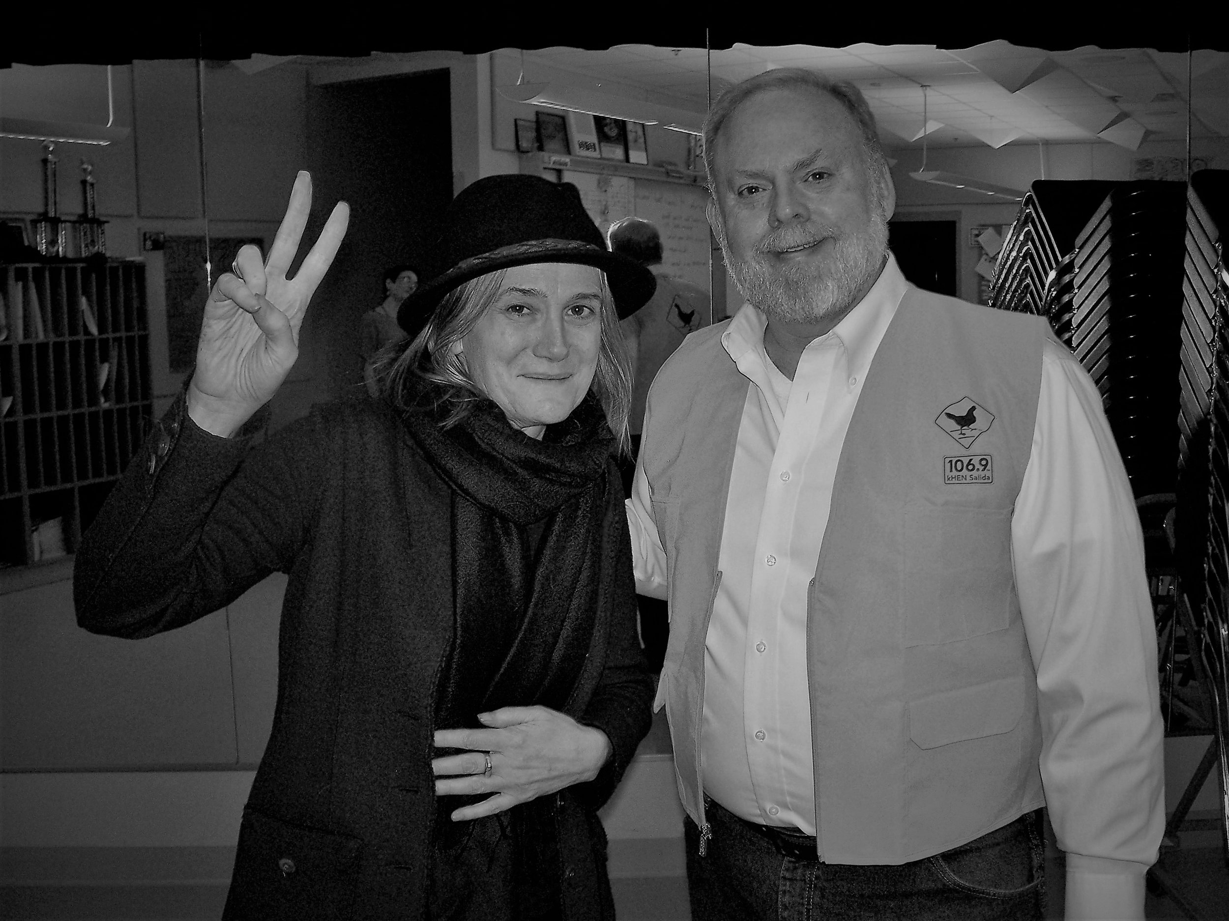 Amy Goodman and Bob Campbell