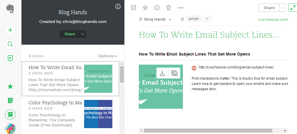 I like to use evernote to curate content.