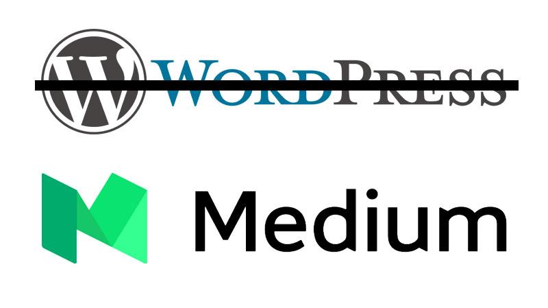 argument for using medium over wordpress or another blog platform