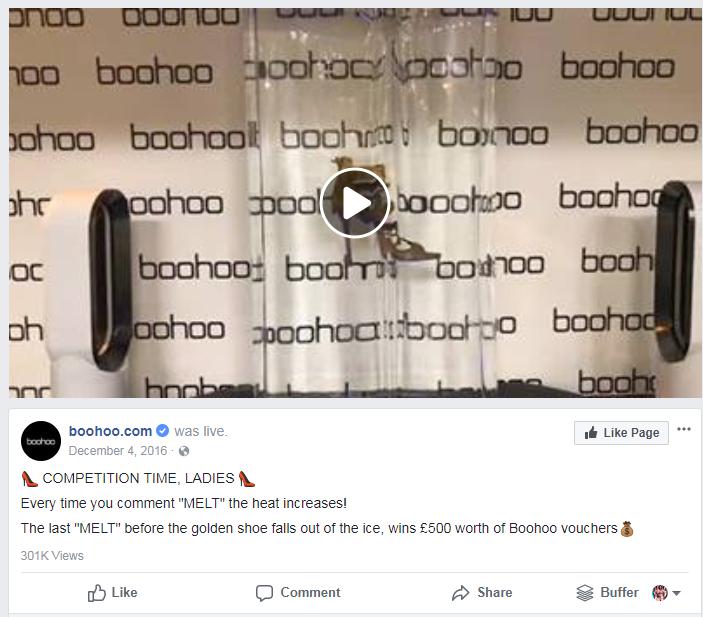 Ice breaker facebook promotion