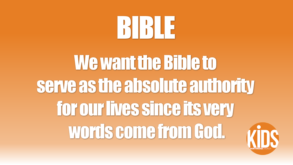 Value #1: Bible