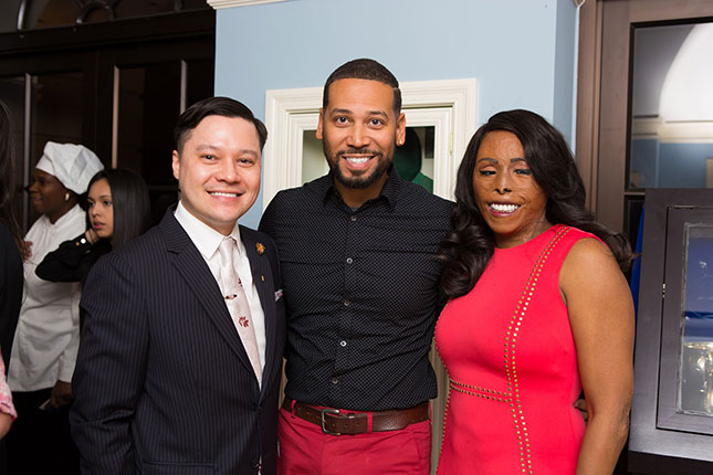 Pictured: Joshua Price, Aaron Perkins and Linda Rowe Thomas