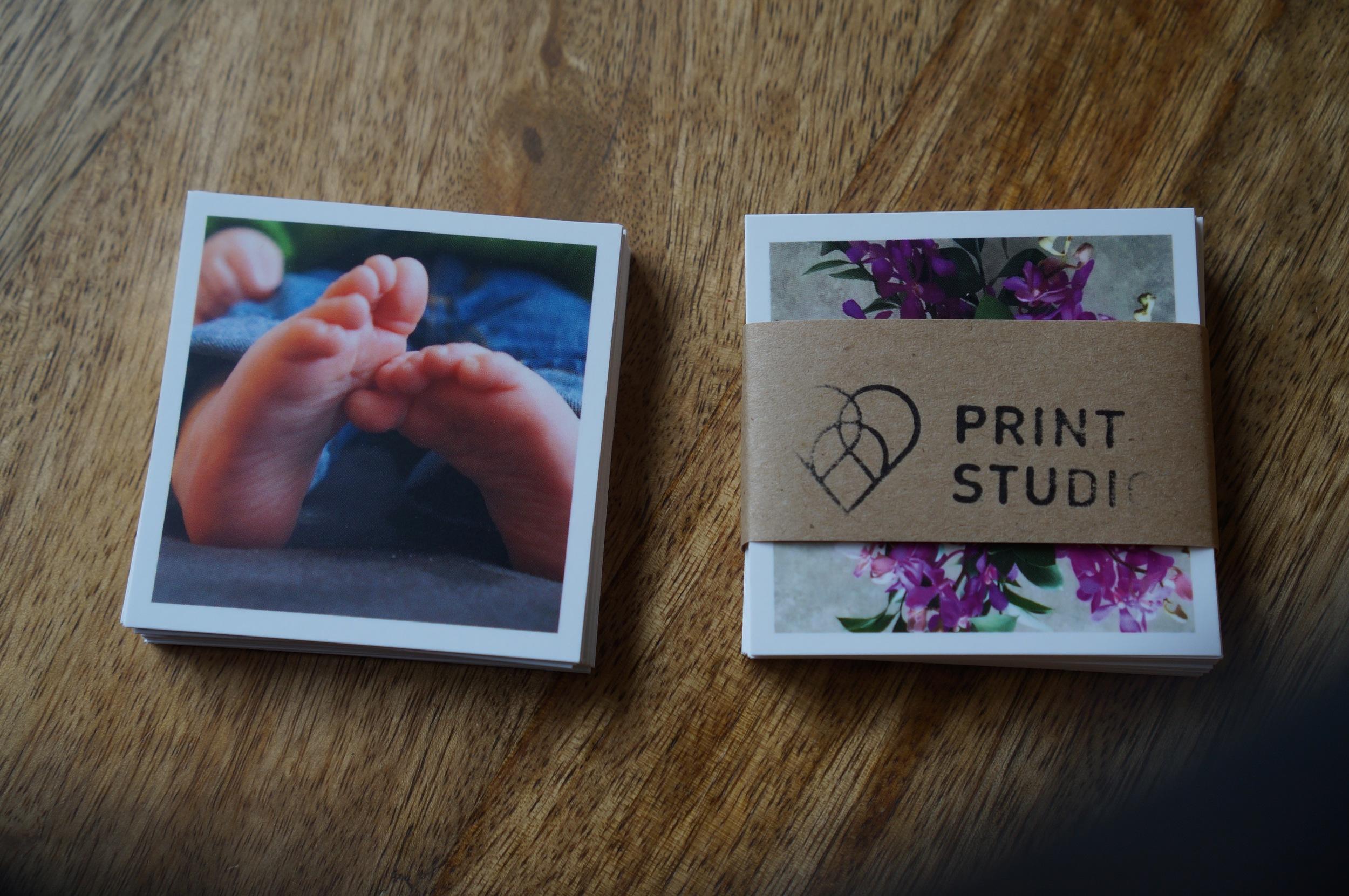 2x2 prints from Social Print Studio.