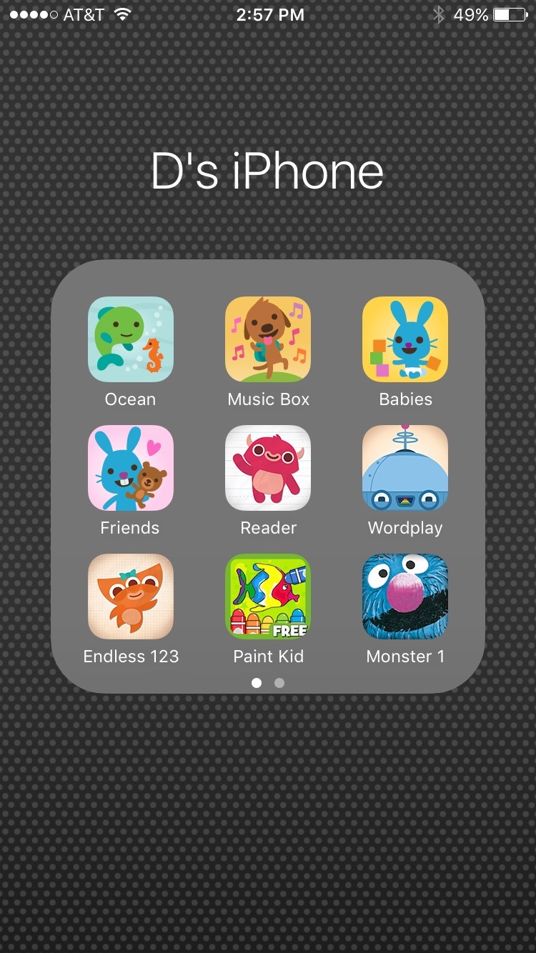 App folders can be great distractions for your little learner.