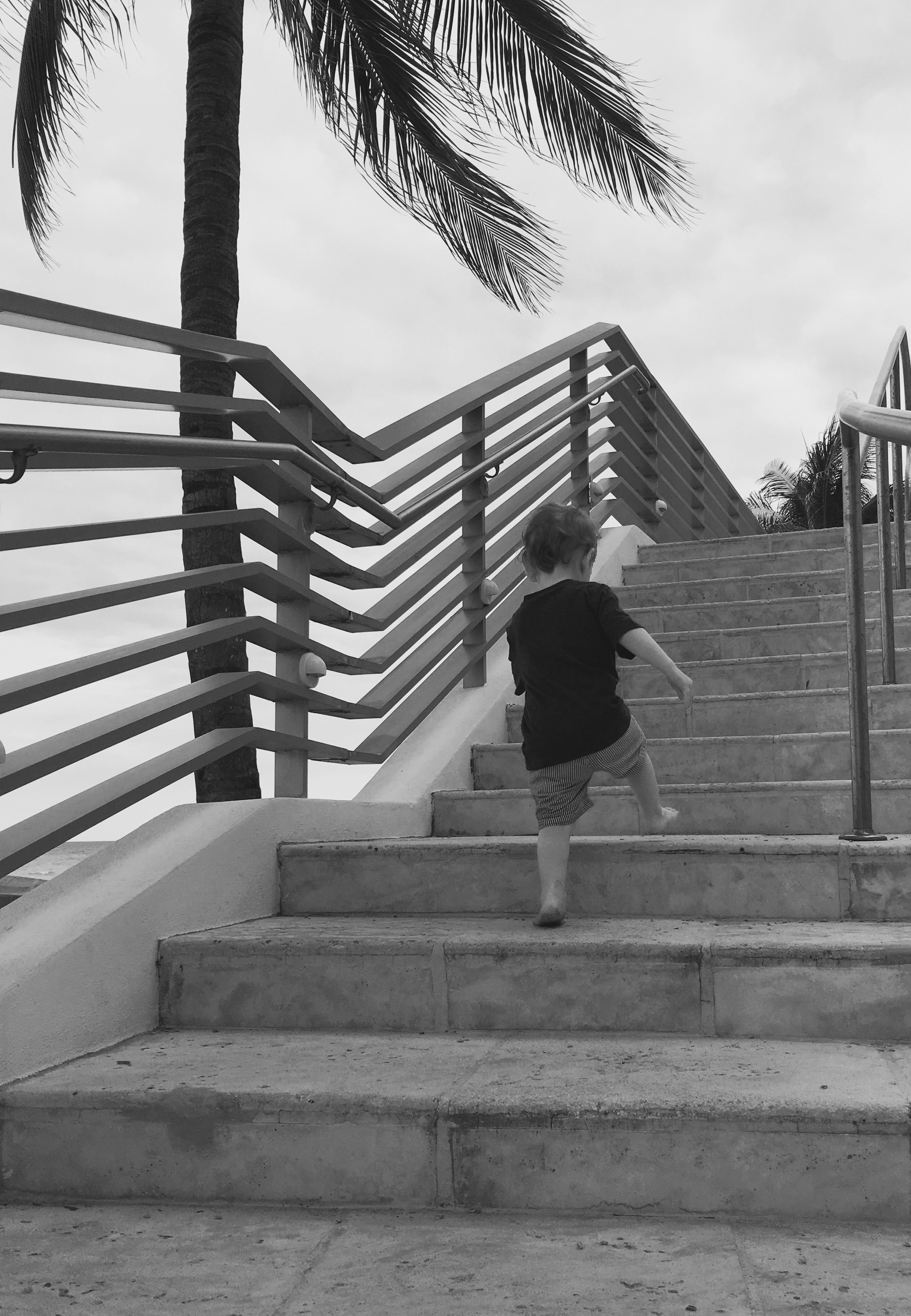 Stepping back helps you stop hovering and capture kiddo's first solo climb in all its terrifying grandeur.