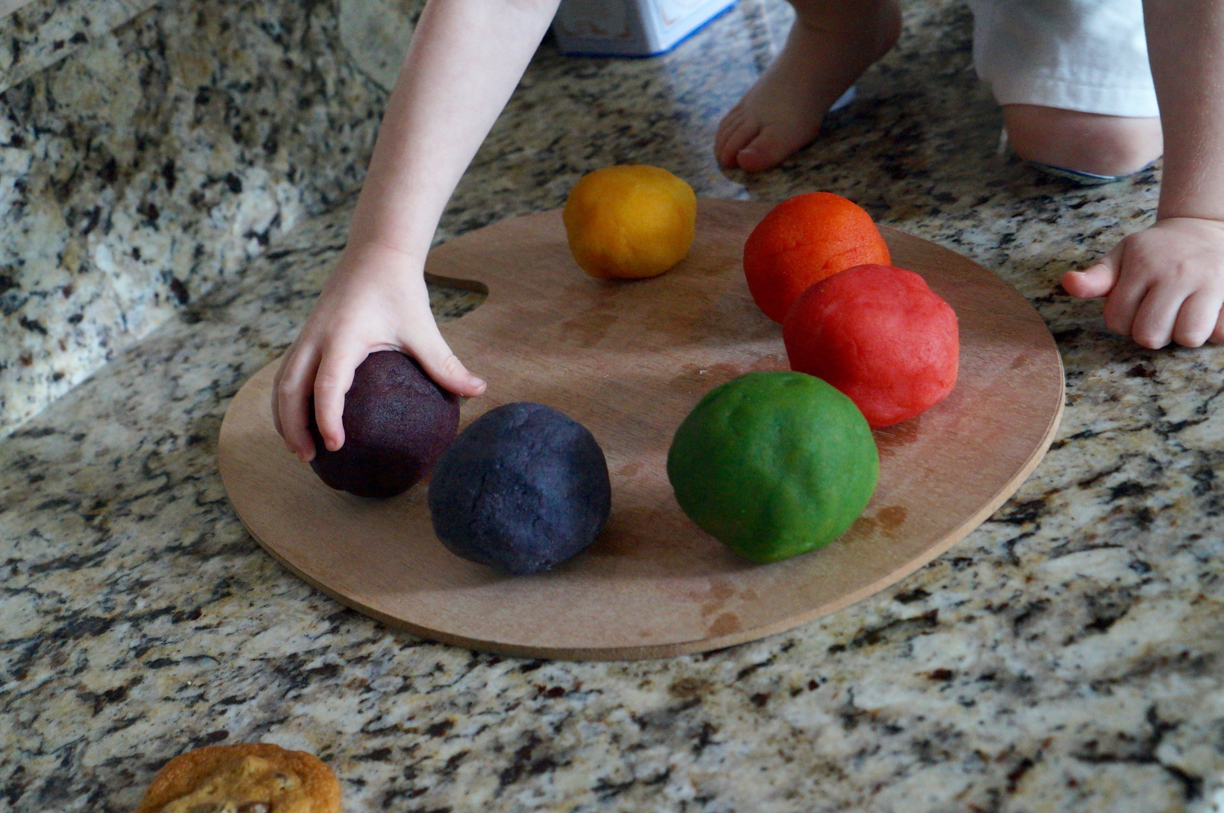 Almond paste + food coloring makes beautiful play dough.