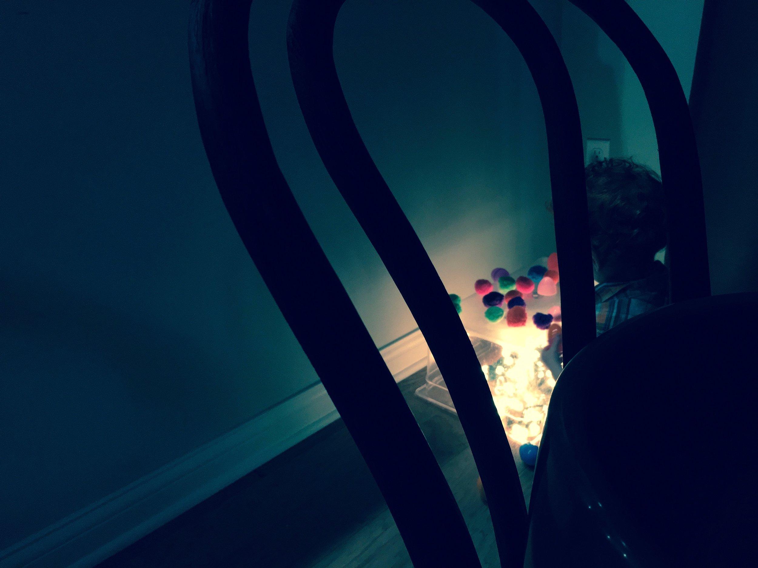 A light table makes for mood lighting and kid distracting.