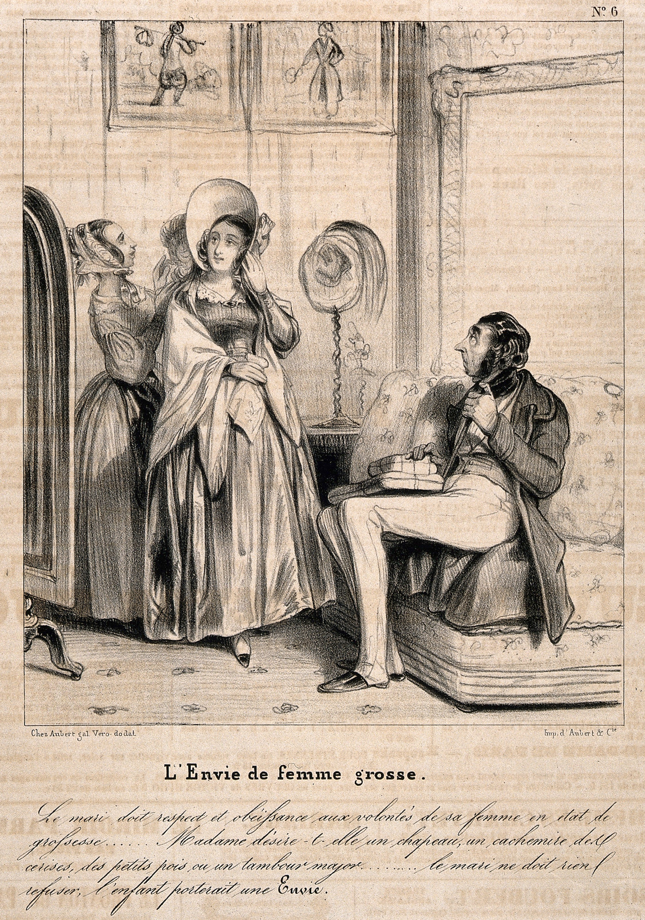 """Translation: """"Envy the fat woman."""" 