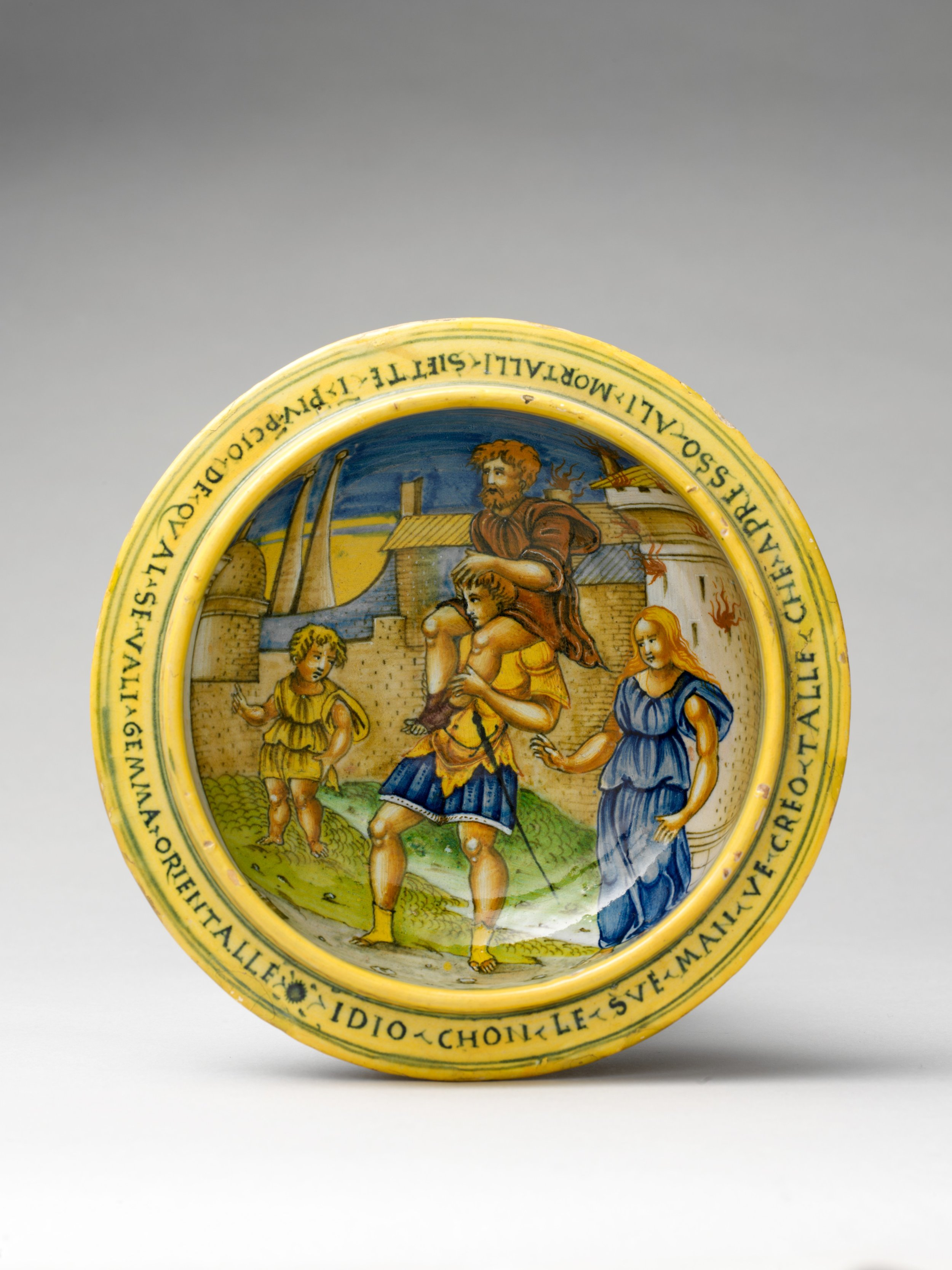 Reading this calendar because someone you love is pregnant? Consider going old school for your shower gift and giving the new parents a maiolica set, a popular gift given to women during the Italian Renaissance. When assembled, the scene on the inside is invisible, kind of like a pregnancy.    The Metropolitan Museum of Art