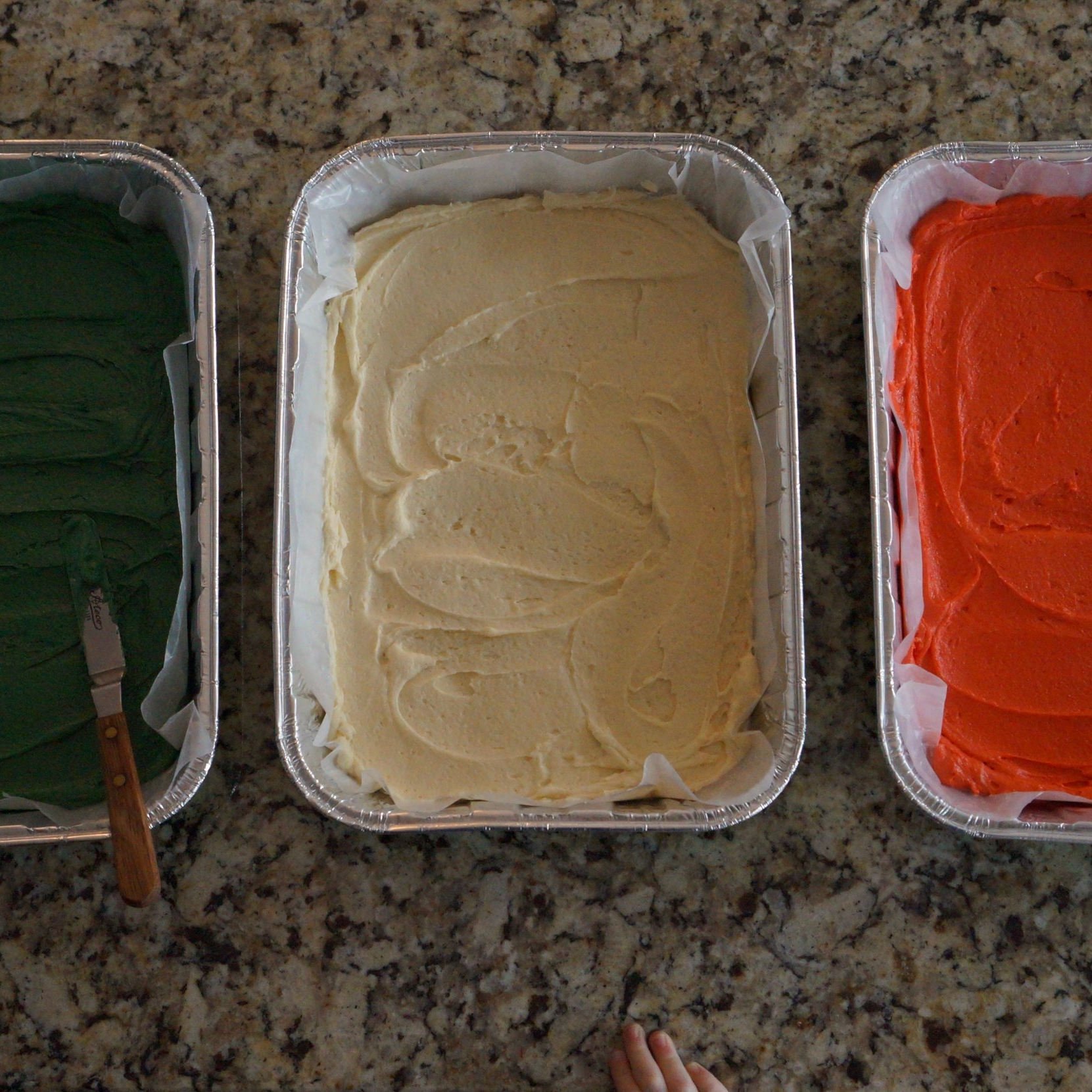 Venetian layers ready for baking.