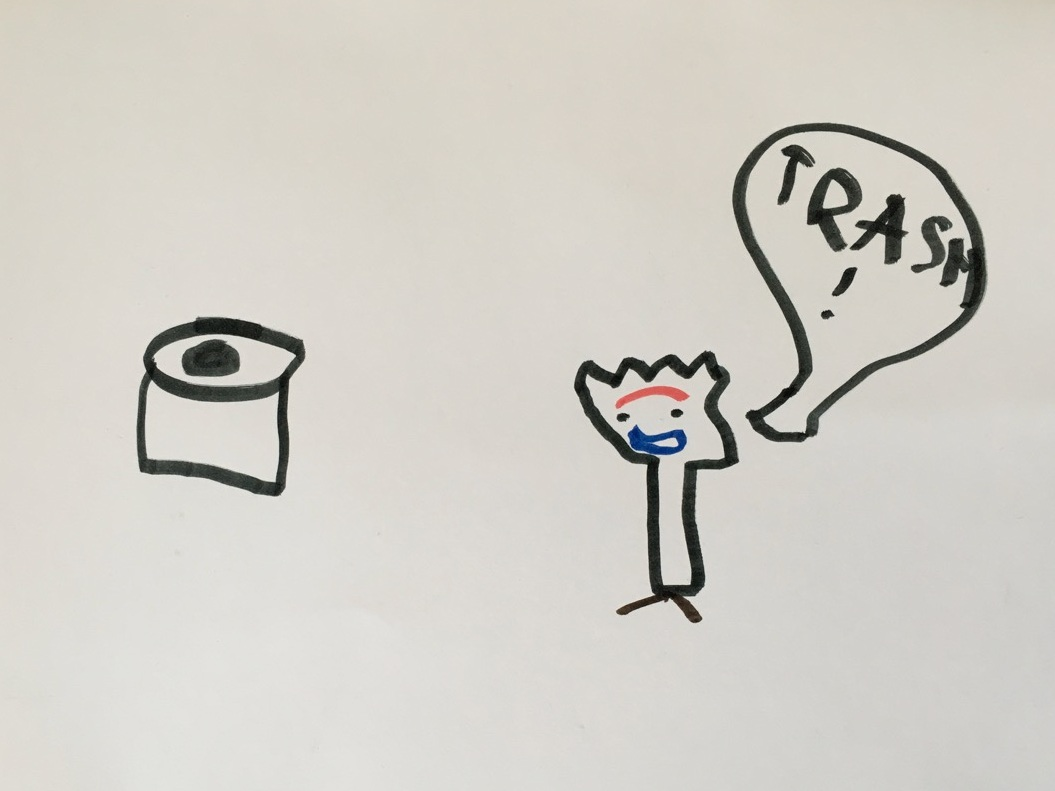 """Forky is either """"Trash!"""" or toy, but not food. 