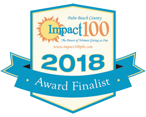 2018 AWARD FINALIST - Impact 100 Palm Beach County, a volunteer driven women's organization hosted by the Community Foundation for Palm Beach and Martin Counties, empowers and enables local women to serve as philanthropic leaders by collectively funding significant grants that will make a lasting impact on southern Palm Beach County. We are so grateful to have been recognized and chosen by the members of Impact 100 Palm Beach County as a leading environmental organization that is making a significant impact in our community.